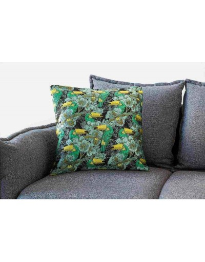Toucan printed pillow cover
