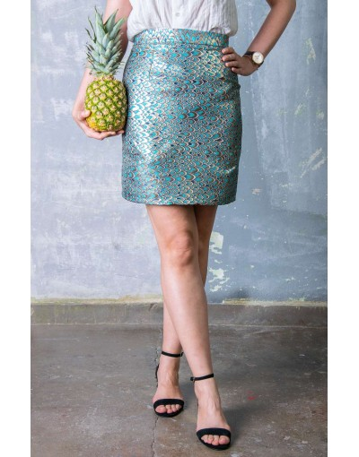 Fish scales printed skirt