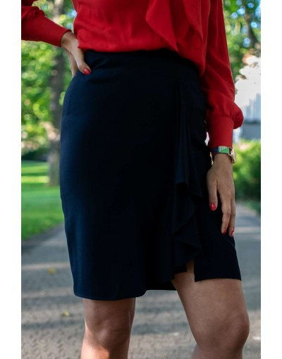 Navy blue frill skirt