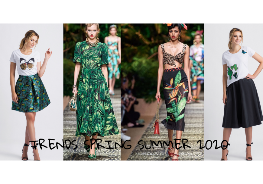 Trends spring summer 2020 - tropical patterns